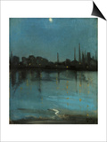 Battersea and the Thames from Chelsea, C.1890 Print by Theodore Roussel