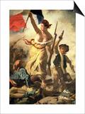Liberty Leading the People, 28 July 1830 (Detail) Posters av Eugene Delacroix