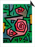 Heroic Roses, 1938 Prints by Paul Klee