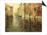 A Venetian Canal Scene Prints by Fritz Thaulow