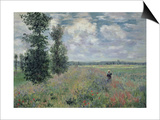 The Poppy Field Affischer av Claude Monet