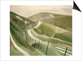 Eric Ravilious - Chalk Paths - Reprodüksiyon