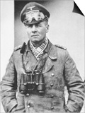 Erwin Rommel in Typical Desert Dress of the North African Campaign, c.1941 Poster by  German photographer