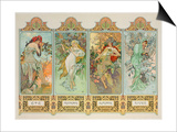The Seasons: Variant 3 Prints by Alphonse Mucha