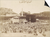 Praying around the Kaaba, Mecca, 1900 Print by S. Hakim