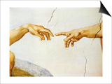 The Creation of Adam, from the Sistine Ceiling, 1510 (Detail) Prints by  Michelangelo Buonarroti
