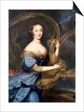Francoise-Athenais De Rochechouart De Mortemart (1640-1707) Marquise of Montespan, as Iris Prints by Louis Ferdinand Elle