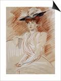 Madame Helleu Au Chapeau Posters by Paul Cesar Helleu