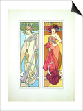 Plate 45 from 'Documents Decoratifs', 1902 Prints by Alphonse Mucha