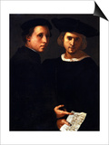 The Two Friends Prints by Jacopo da Carucci Pontormo