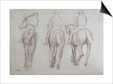 Jockeys Prints by Edgar Degas