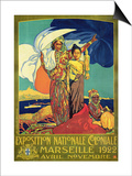 Poster Advertising the 'Exposition Nationale Coloniale', Marseille, April to November 1922 Poster by David Dellepiane