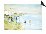 Revere Beach, Boston Print by Maurice Brazil Prendergast