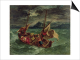 Christ on the Sea of Galilee, 1854 Art by Eugene Delacroix