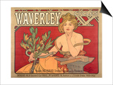Poster Advertising 'Waverley Cycles', 1898 Prints by Alphonse Mucha