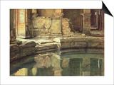 The Roman Circular Bath at Bath Print by Edward John Poynter