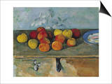 Still Life of Apples and Biscuits, 1880-82 Posters by Paul Cézanne