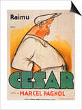 Poster Advertising the Film, 'Cesar with Raimu', by Marcel Pagnol (1895-1974) Prints by  French School