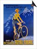 Poster Advertising Cycles 'Royal-Fabric', 1910 Schilderijen van Michel, called Mich Liebeaux