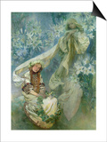 Madonna of the Lilies, 1905 Art by Alphonse Mucha
