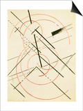 Linear Composition Art by Lyubov Sergeevna Popova