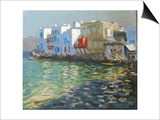 Little Venice, Mykonos Art by Andrew Macara