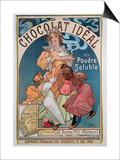 Poster Advertising 'Chocolat Ideal', 1897 Posters by Alphonse Mucha