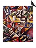 Cubist Cityscape, 1914 Posters by Lyubov Sergeevna Popova