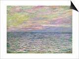 On the High Seas, Sunset at Pourville; Coucher De Soleil a Pourville, Pleine Mer, 1882 Art by Claude Monet