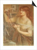 Risen at Dawn - Gretchen Discovering Faust's Jewels, 1868 Poster by Dante Charles Gabriel Rossetti