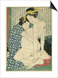 Lesbian Lovers, from 'Manpoku Wago-Jin', 1821 Prints by Katsushika Hokusai