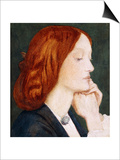 Portrait of Elizabeth Siddal, in Profile to the Right Prints by Dante Charles Gabriel Rossetti