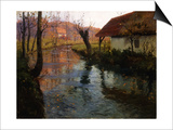 The Mill Stream Art by Fritz Thaulow