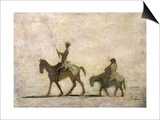 Don Quixote and Sancho Panza Print by Honore Daumier