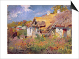 Ukrainian Cottages, 1906 Prints by Petr Levchenko