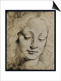 Head of a Young Girl Posters by  Leonardo da Vinci