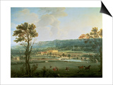 A View of Chatsworth from the South-West Print by Thomas Smith of Derby