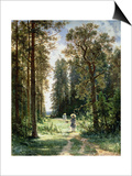 The Path Through the Woods, 1880 Poster by Ivan Ivanovitch Shishkin