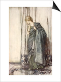 Helena, Illustration from 'Midsummer Nights Dream' by William Shakespeare, 1908 (Colour Litho) Prints by Arthur Rackham