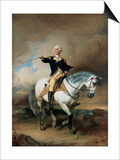 Portrait of George Washington Taking the Salute at Trenton Prints by John Faed