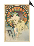 Woman with Poppies, 1898 Posters by Alphonse Mucha