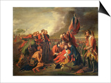 The Death of General Wolfe (1727-59), C.1771 Prints by Benjamin West