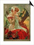 Sarah Bernhardt (1844-1923) Lefevre-Utile, 1903 Posters by Alphonse Mucha