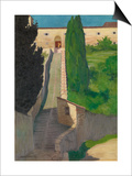 The Steps of the Convent of San Marco, Perugia, 1913 Prints by Félix Vallotton