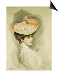 Portrait of a Lady, Thought to Be Madame Helleu Posters by Paul Cesar Helleu