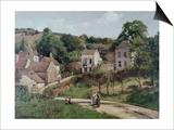 The Hermitage at Pontoise, C.1867 Poster par Camille Pissarro