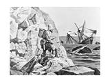 Robinson Crusoe Viewing His Wreck Print Giclee Print