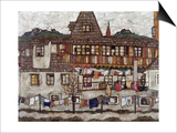 Houses with Clothes Drying, 1917 Poster by Egon Schiele