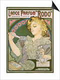 Poster Advertising Lance Parfum 'Rodo', 1896 Prints by Alphonse Mucha