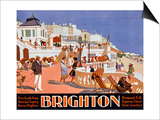 Poster Advertising Travel to Brighton Art by Henry George Gawthorn